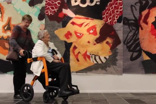 Irene, inspirational ambassador of Rollz Motion in New Zealand