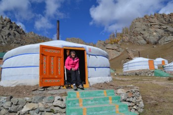 Holidays in Mongolia with a Rollz Motion rollator and wheelchair in one