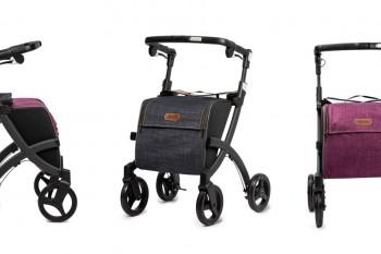 Rollz Flex matt black, denim grey and bright purple bag