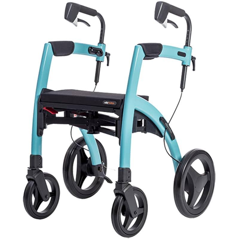 Stabiele rollator Rollz Motion in blauwe kleur