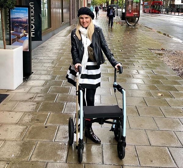 A review of the Rollz Motion rollator by a woman living with Multiple Sclerosis