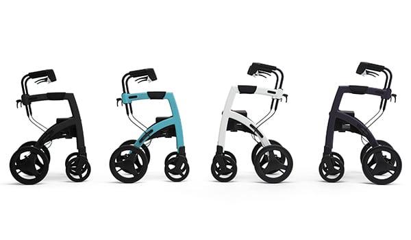 Rollz Motion rollators in vier kleuren