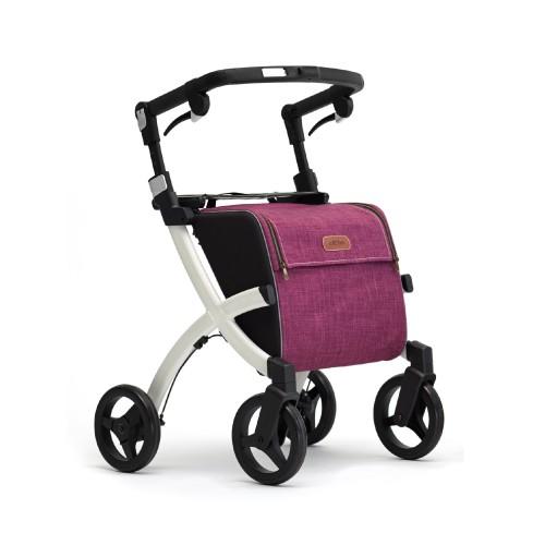 Rollz Flex klassieke remmen, wit frame, bright purple tas, normale maat