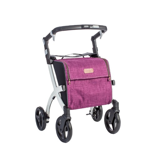 Rollz Flex fliprem, wit frame, bright purple tas, normale maat