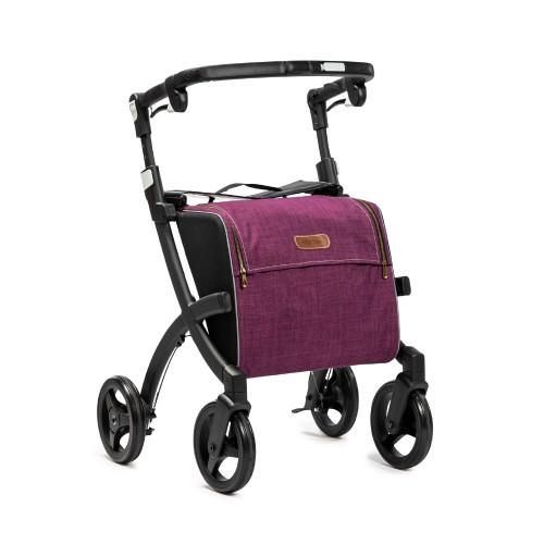 Rollz Flex klassieke rem, matt black frame, bright purple tas, normale maat