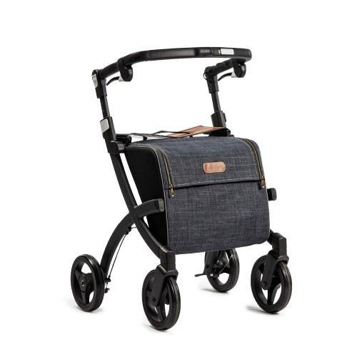 Rollz Flex klassieke rem, matt black frame, denim grey tas, normale maat