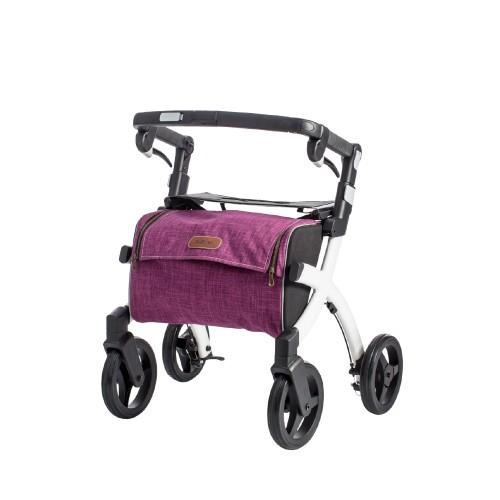 Rollz Flex klassieke rem, wit frame, bright purple tas, kleine maat
