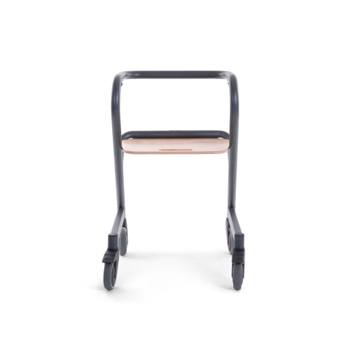 Saljol Page indoor rollator Anthracite back view