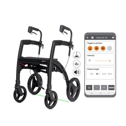 Rollz Motion Rhythm rollator met cues en app voor Parkinson